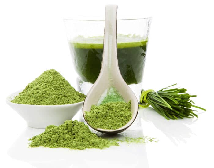 Green powder drink