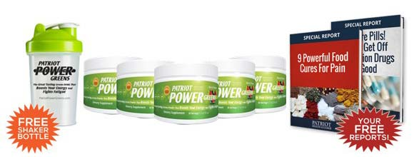 Patriot Power Greens free gifts