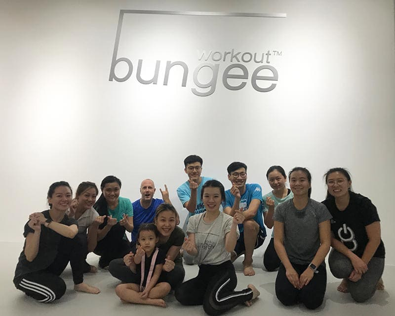 bungee workout class at wo studios