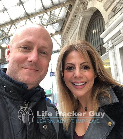 Sonya and Adam meet up in London