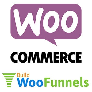woocommerce and woofunnels logos