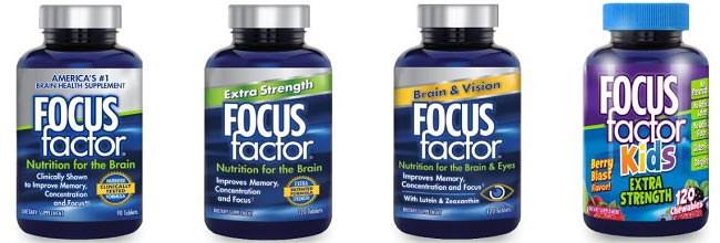 Focus Factor nootropics supplements range