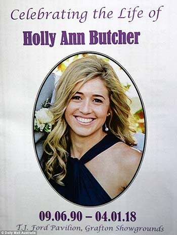 Holly Butcher laid to rest