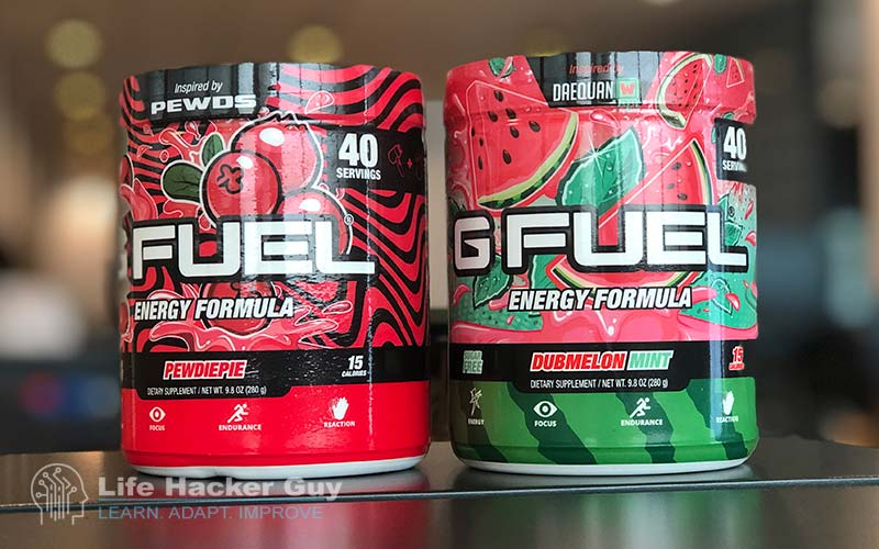 GFuel Energy formula powder drinks