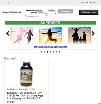 Daily GREEN Boost website