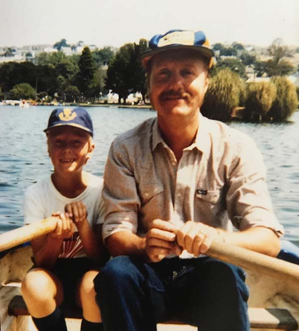 Adam and Dad early years