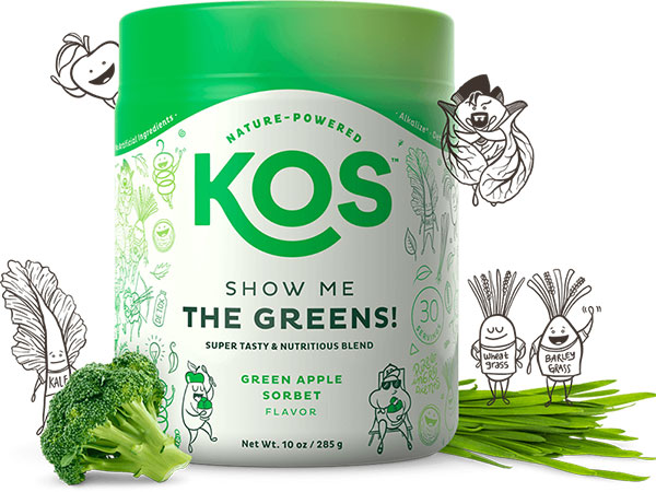 KOS Daily Greens blend tub