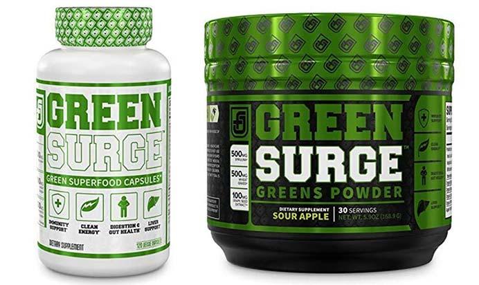 Green Surge Capsules and Powder
